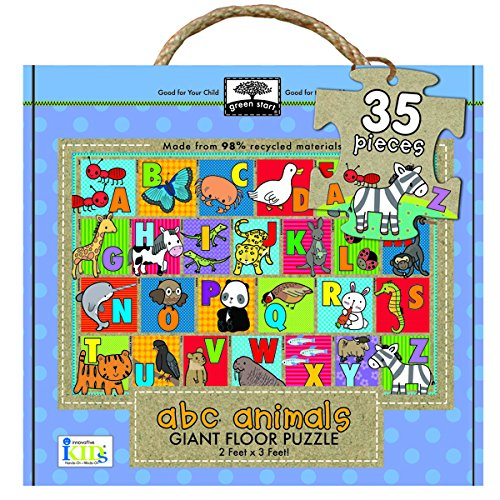 [Innovative Kids Green Start Giant Floor ABC Animals Puzzle (35 Piece)] (Animals That Start With The Letter A)