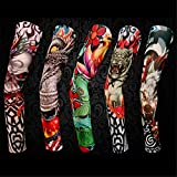 Arm Fake Sleeves Tattoo Sleeve for Men Reusable Women Stretch Arm Stockings makeup Party Sexy Gift Slip 5Pc/lot