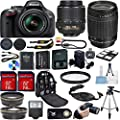 Nikon D5200 DSLR Camera Bundle with Lens, Filter & Accessories (16 Items) - International Version