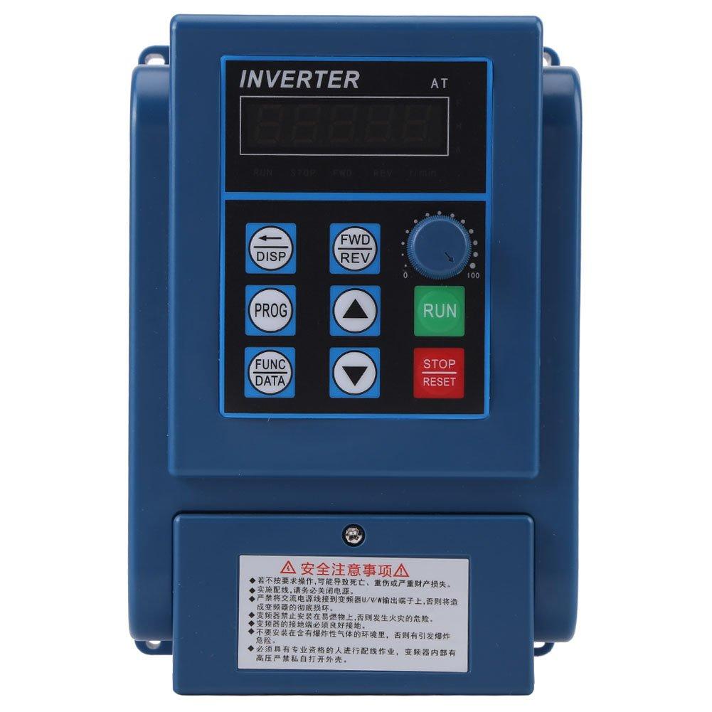 1PC AC 380V 1.5kW 4A Variador de velocidad Frecuencia Ajustable VFD de 3 Phase Walfront