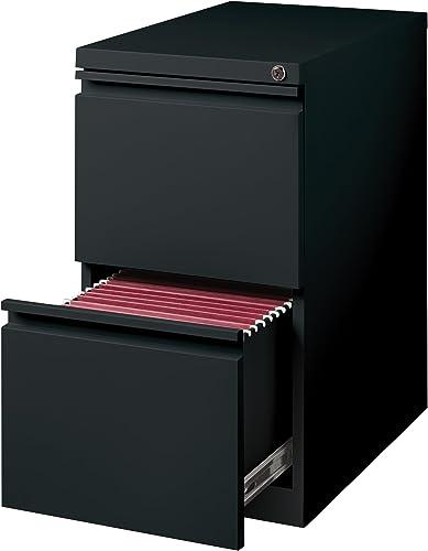 Hirsh Industries 20 Deep File File Mobile Pedestal, Black, 18578