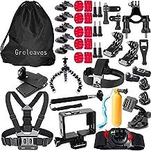 Accessories Kit for Gopro Hero 5 Black, Gopro Hero 5 Session, Gopro Hero Session, Gopro Hero 4, Gopro Hero 3, Sport Action Camera Accessory for SJCAM SJCAM SJ4000 SJ5000 SJ6000, Xiaomi Yi, AKASO, WiMiUS, Lightdow, DBPOWER, APEMAN