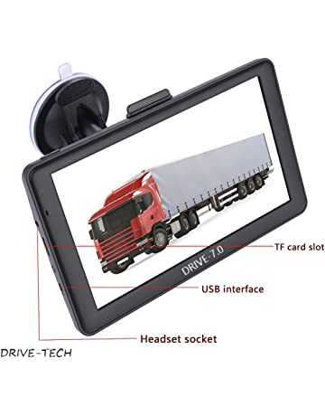 GPS Sat NAV para coche 17,78 cm Alerta de SpeedCam Mapas actualizados de la