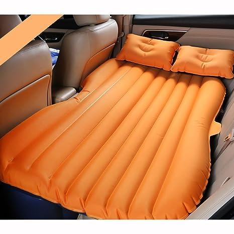 Colchón de aire para viajes en coche, transpirable para la piel cómodo y portátil para