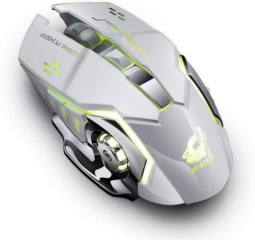 Zippem 2.4GHz Wireless LED Light Gaming Mouse Ergonomic Optical for Laptop Computer Mice
