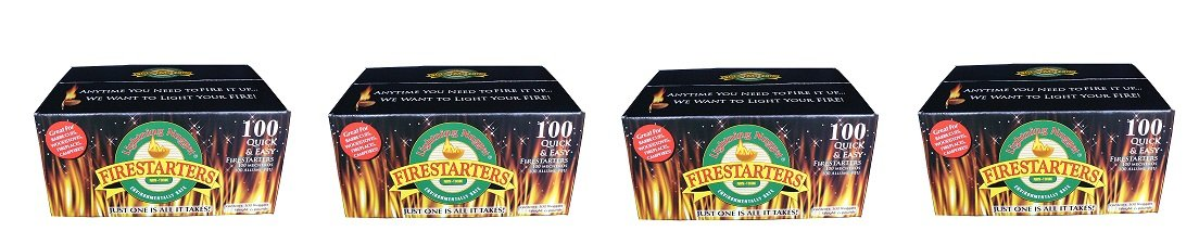Lightning Nuggets n100seb Firestartersスーパーボックス経済のfire-starting Nuggets、100カウント 4-PACK B079P5MNZM 4-PACK