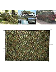 OUTERDO Camouflage Net Desert Camo Netting for Camping Military Hunting Shooting 6.6ft x 9ft