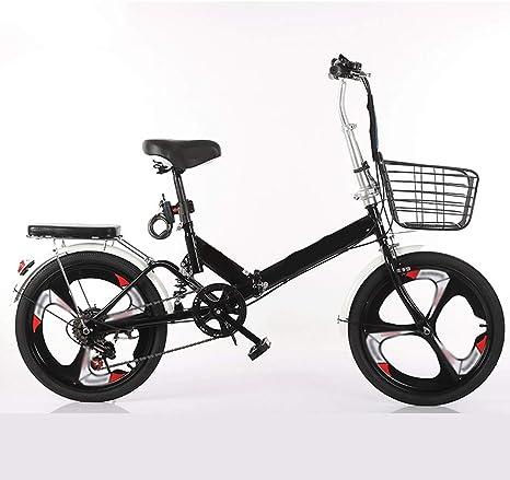 Bicicleta 20-pulgadas plegable velocidad de bicicletas - Estudiante bicicleta plegable for hombres y mujeres plegable velocidad de bicicletas bicicletas de amortiguación ,, shockabsorption (Color: Neg: Amazon.es: Deportes y aire libre
