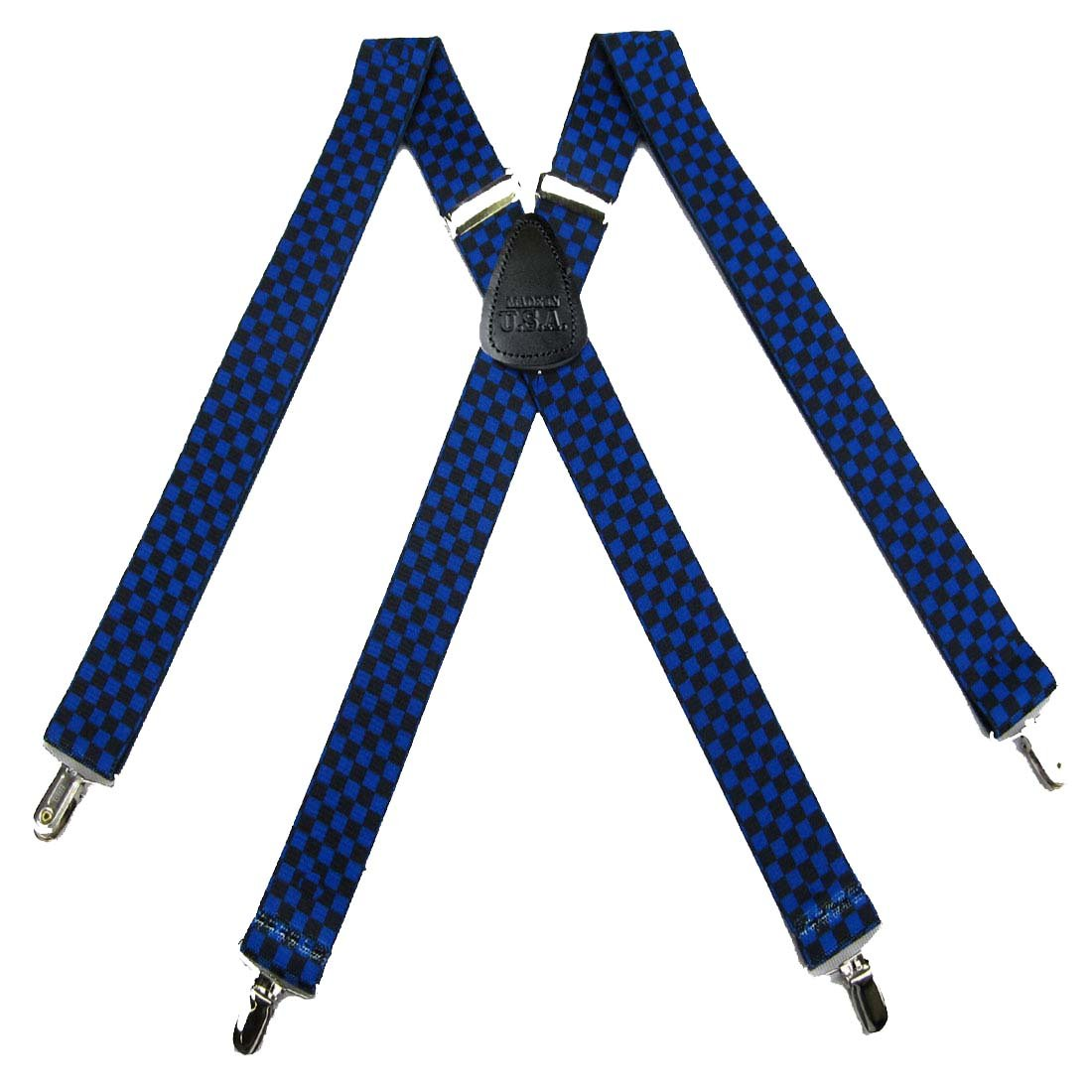 Royal Mens Checks Suspenders for pants trousers Made in the USA