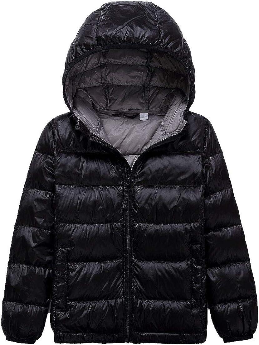 Children/'s Down Coats Lightweight Outwear Hooded Puffer Coat Down Jackets