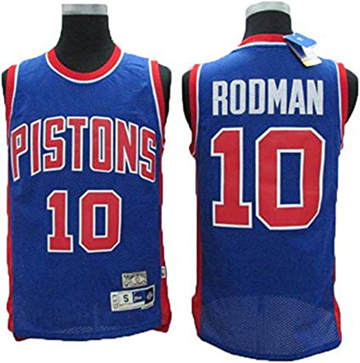CCKWX Detroit Pistons # 10 Dennis Rodman Baloncesto Jersey Sin ...