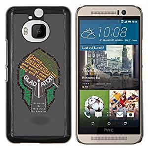 "Be-Star Único Patrón Plástico Duro Fundas Cover Cubre Hard Case Cover Para HTC One M9+ / M9 Plus (Not M9) ( Gladiador Tipografía Casco"" )"