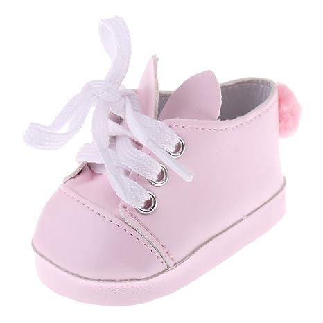 Scarpa Sneakers Ginnastica Orecchie Coniglio Per Bambola Accessorio 18 Pollici IuLvb