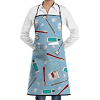 Dentist Kitchen Apron - Mens and Women Apron - Adjustable with Pockets20.47 X 28.34 inch