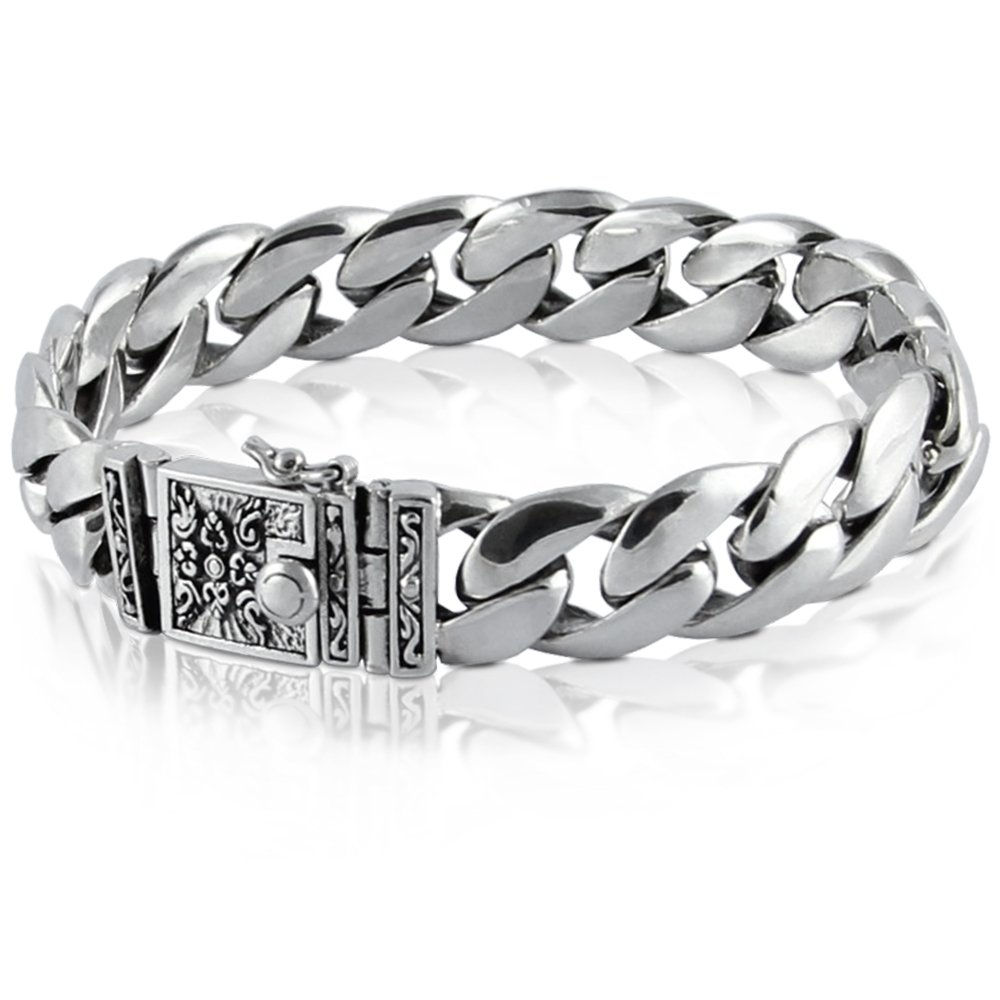 High Class 925 Sterling Silver Bracelet - Made in Thailand - 8.25