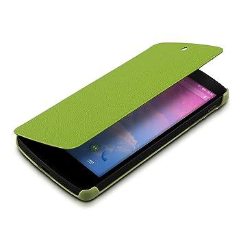 kwmobile Funda para LG Google Nexus 5 - Carcasa con Tapa Tipo Libro para móvil - Case Protector en Verde