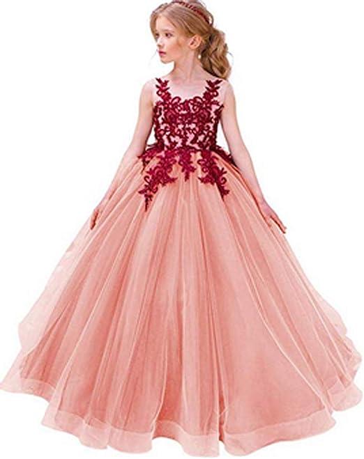 Festliches Mädchen Kleider Lange Brautjungfern Kleider Festlich Hochzeit  Party Prinzessin Kleid Blumenmädchen Festzug Gr. 9 9 9 9 9 9  9