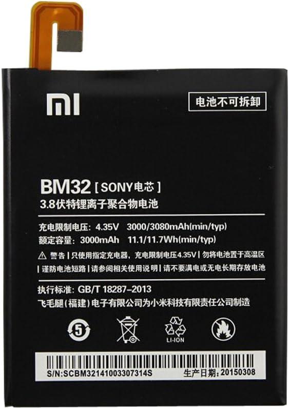 Batería Original Reemplazo de la Batería de Li-ion backup-batería (3000 mAh) para Xiaomi BM32, xiaomi 4