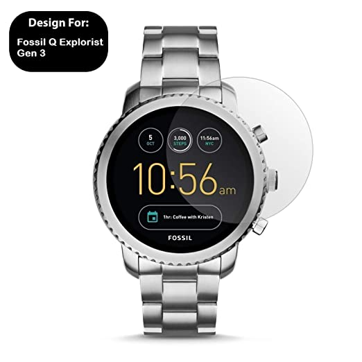Cellshell 0.3mm Pro+ Tempered Glass Screen Protector with Packaging Kit for Fossil Explorist Gen 3