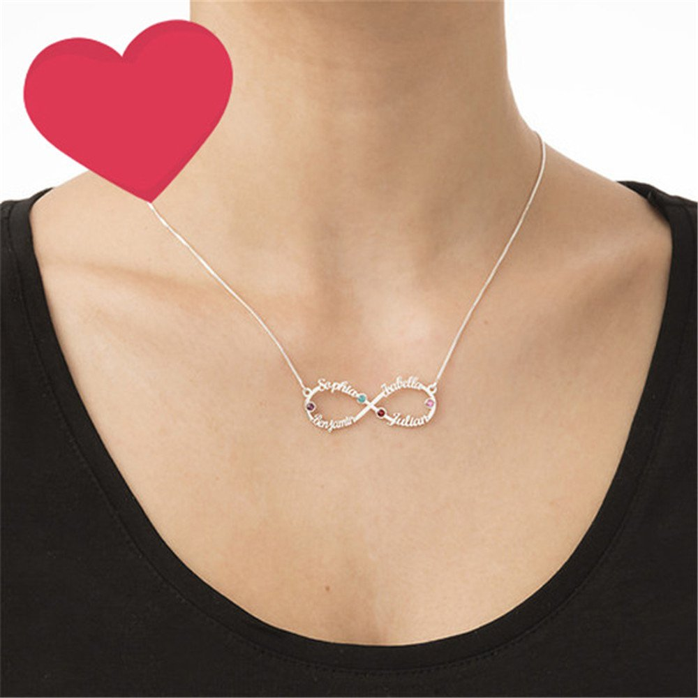 zgshnfgk 4 Named Necklaces Fashion Custom Names and Diamond Necklaces