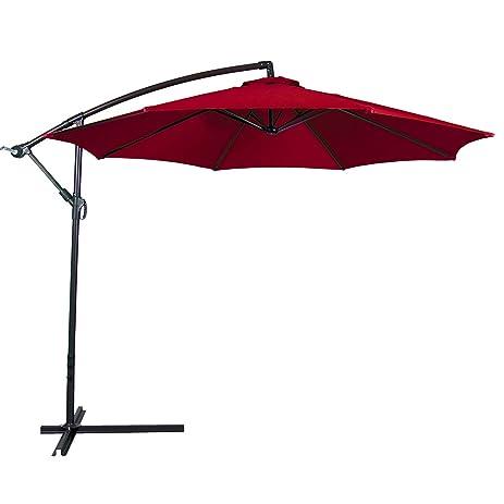 Superior Belleze Outdoor Patio Umbrella 10u0027 Feet Tilt W/ Crank UV Resistant  Water Proof