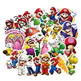 100pcs Super Mario Cartoon Stickers for Laptop Stickers Motorcycle Bicycle Skateboard Luggage Decal Graffiti Patches Waterproof Stickers for [No-Duplicate Sticker Pack]