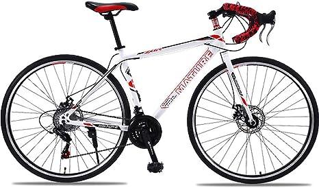 H-LML Carreras de Bicicleta de Carretera 27/30 de Velocidad Manija Recta Frenos de Disco Doble de Carretera Hombres y Mujeres Bicicleta de Ciudad,Red,30: Amazon.es: Hogar