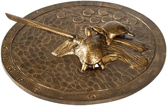 Montague Metal Products Turtle Sundial, Aged Bronze