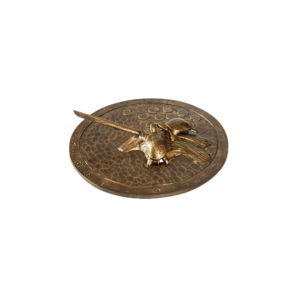 Montague Metal Products Turtle Sundial, Aged Bronze by Montague Metal Products