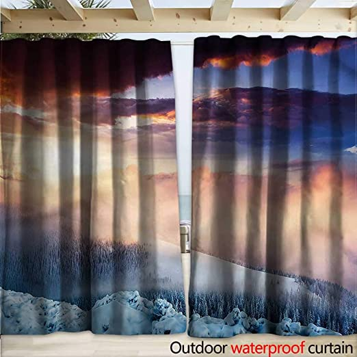 warmfamily - Cortina de Invierno para pérgola, diseño de Paisaje al Aire Libre: Amazon.es: Jardín