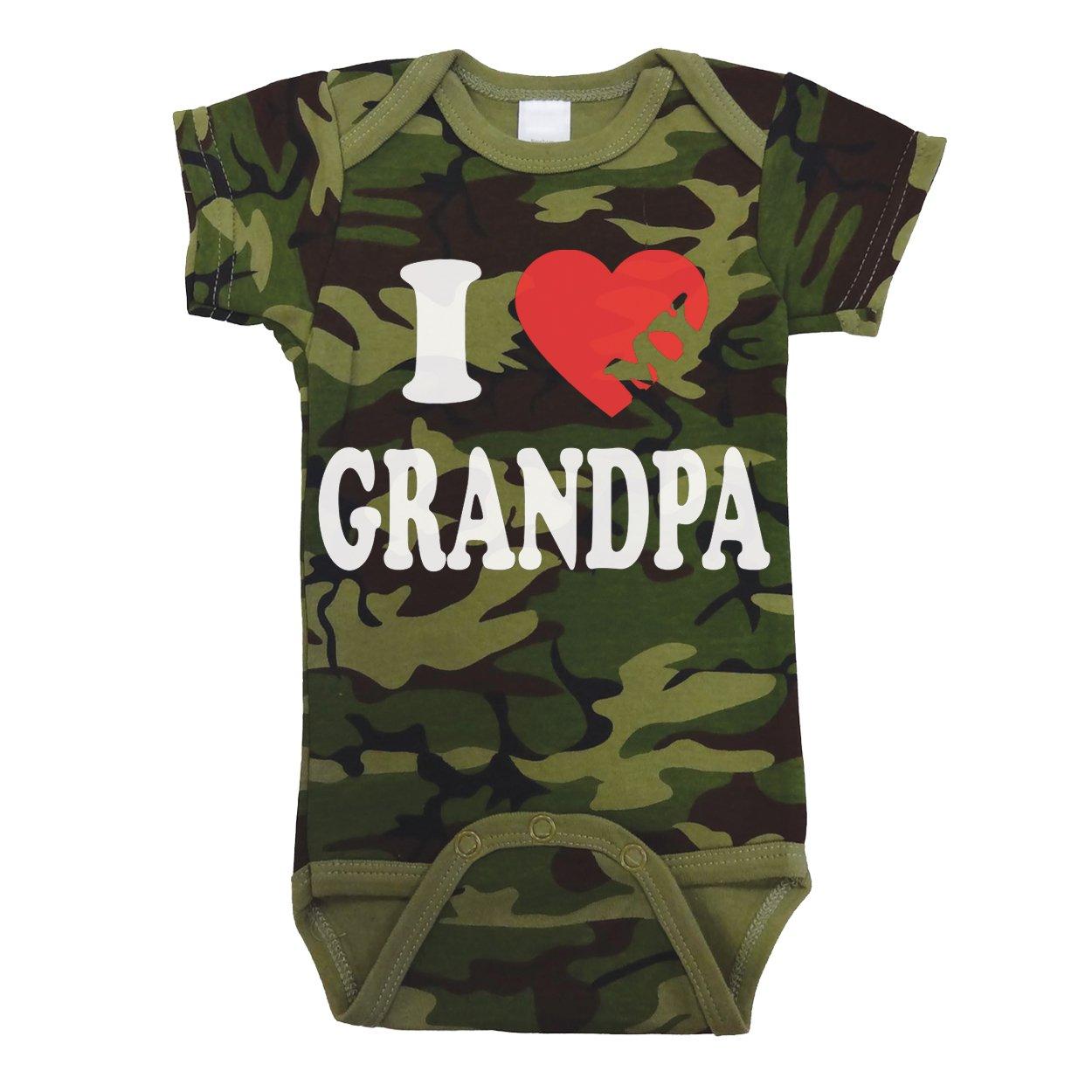 I Love Heart My Grandpa Baby One Piece 18 Months Camo