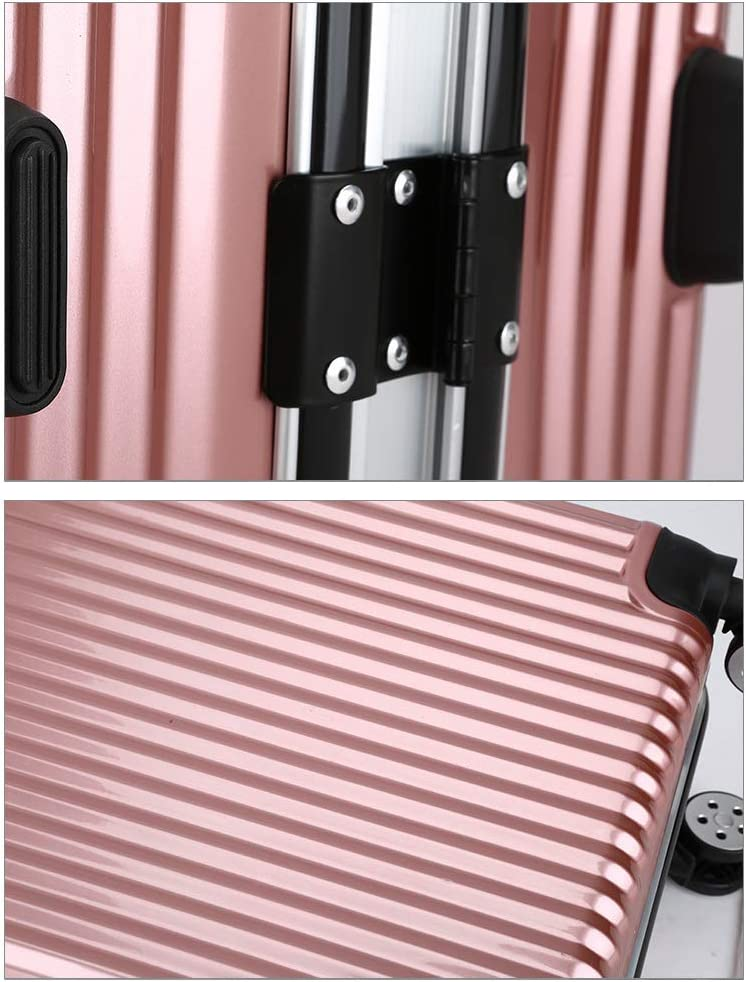 Solid Color Suitcase, YSZG Aluminum Frame Trolley case Waterproof and Wearable Travel case Universal Wheel Suitcase Travel Luggage