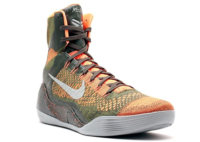 097c9233533 Nike Kobe IX 9 Elite Strategy 630847-303 Sequoia Green Silver Mens  Basketball Shoes (Size 10)  Amazon.in  Shoes   Handbags