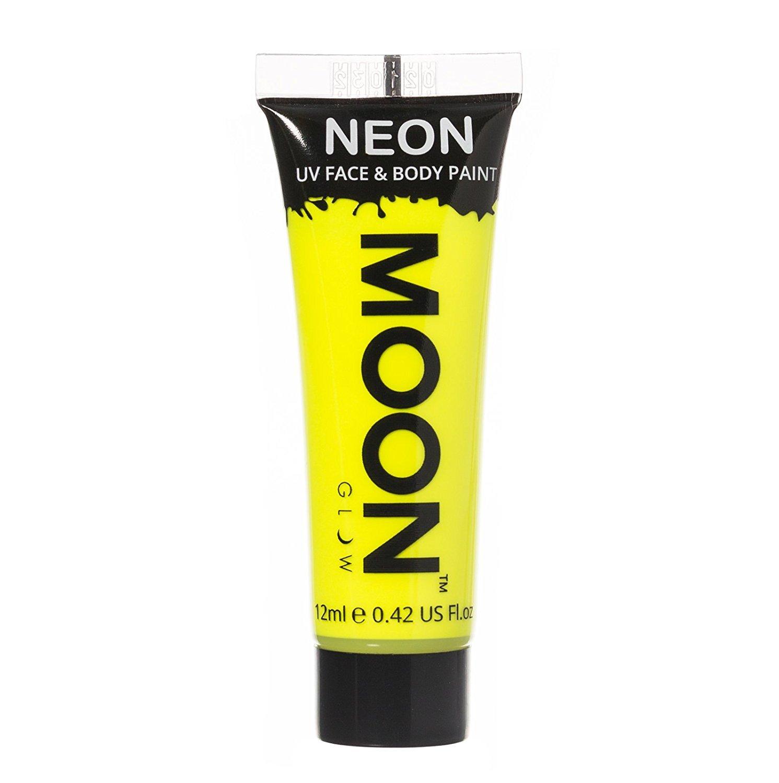 Moon Glow - 0.42oz Blacklight Neon UV Face & Body Paint - Intense Yellow