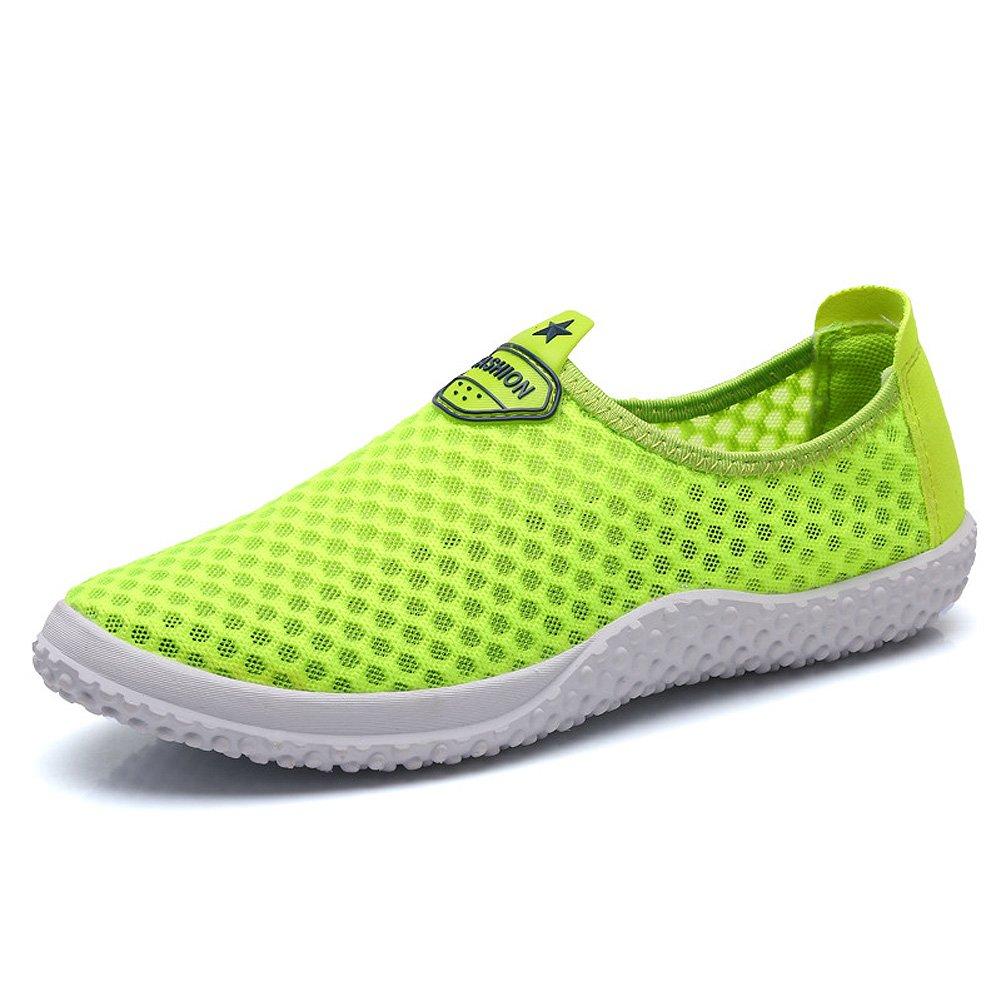 [iLory] Man andレディースメッシュSlip On水靴通気性クイック乾燥Aqua靴、6色 42 M EU / 8.5 B(M) US グリーン B01H8MSJVY