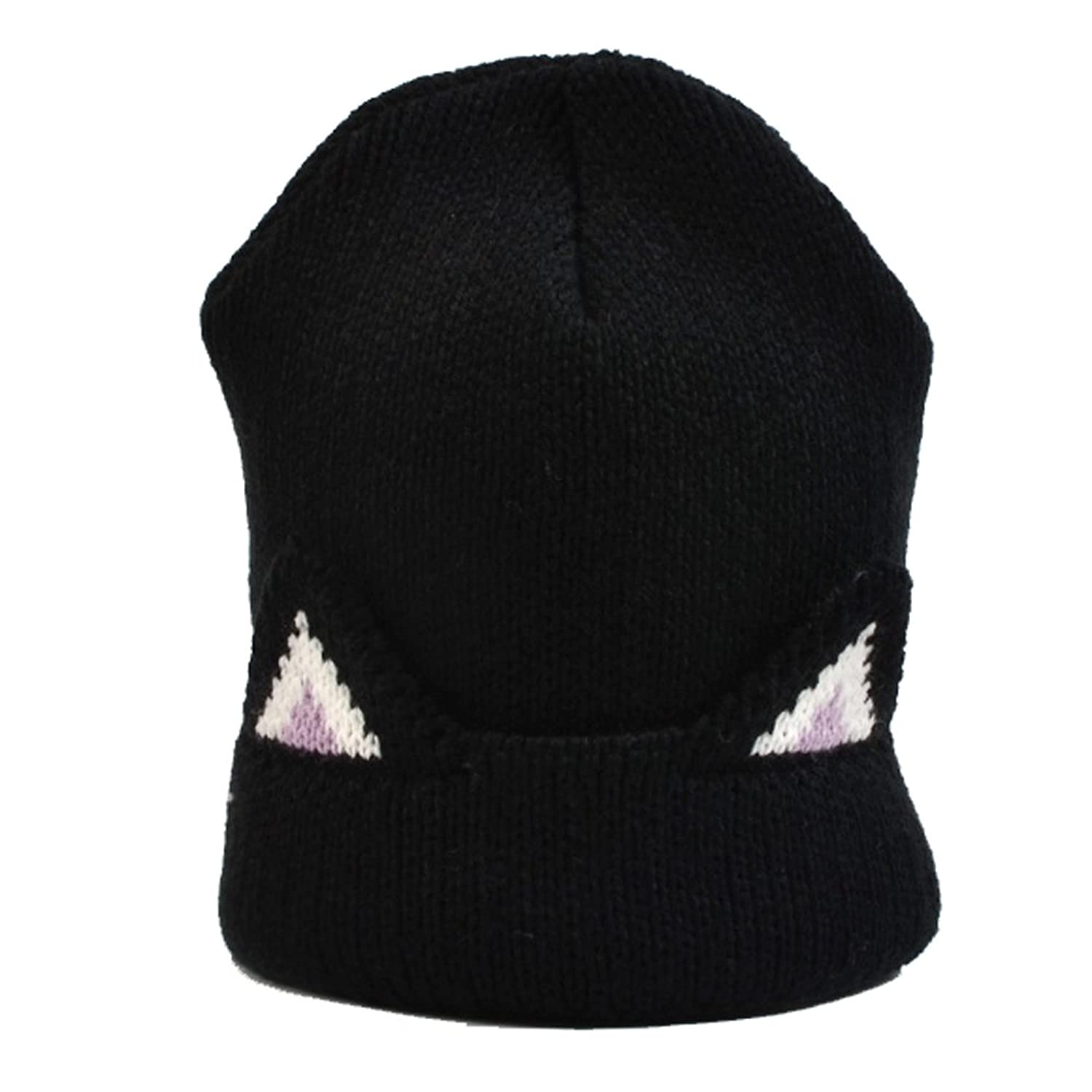 Alizeal Womens Cute Cat Ears Solid Knitted Winter Hats