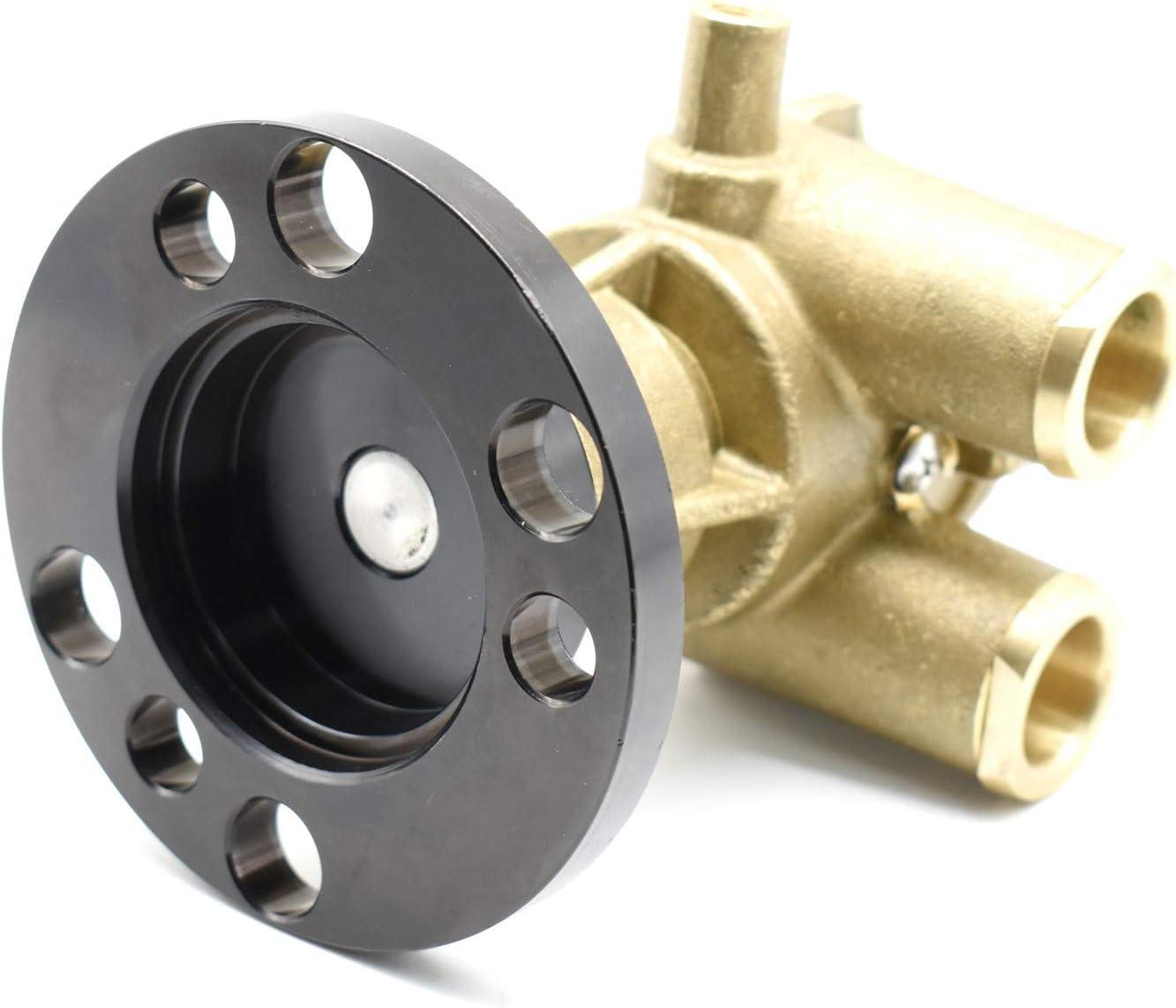 F6B-9 Crankshaft Mounted Impeller Water Pump for Volvo Penta 856513 3860703 and OMC V8 Engines Johnson 10-24946-01 Sherwood P105 Jabsco 50410-1201 Indmar 685001