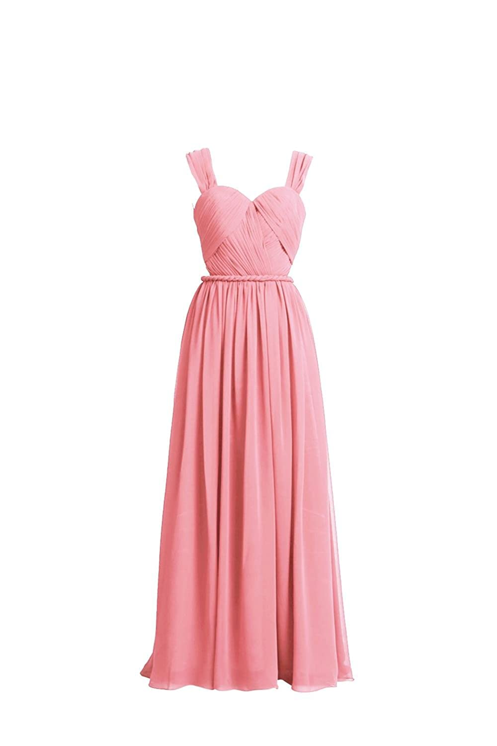YiYaDawn Women's Backless Long Prom Dress Formal Evening Gown