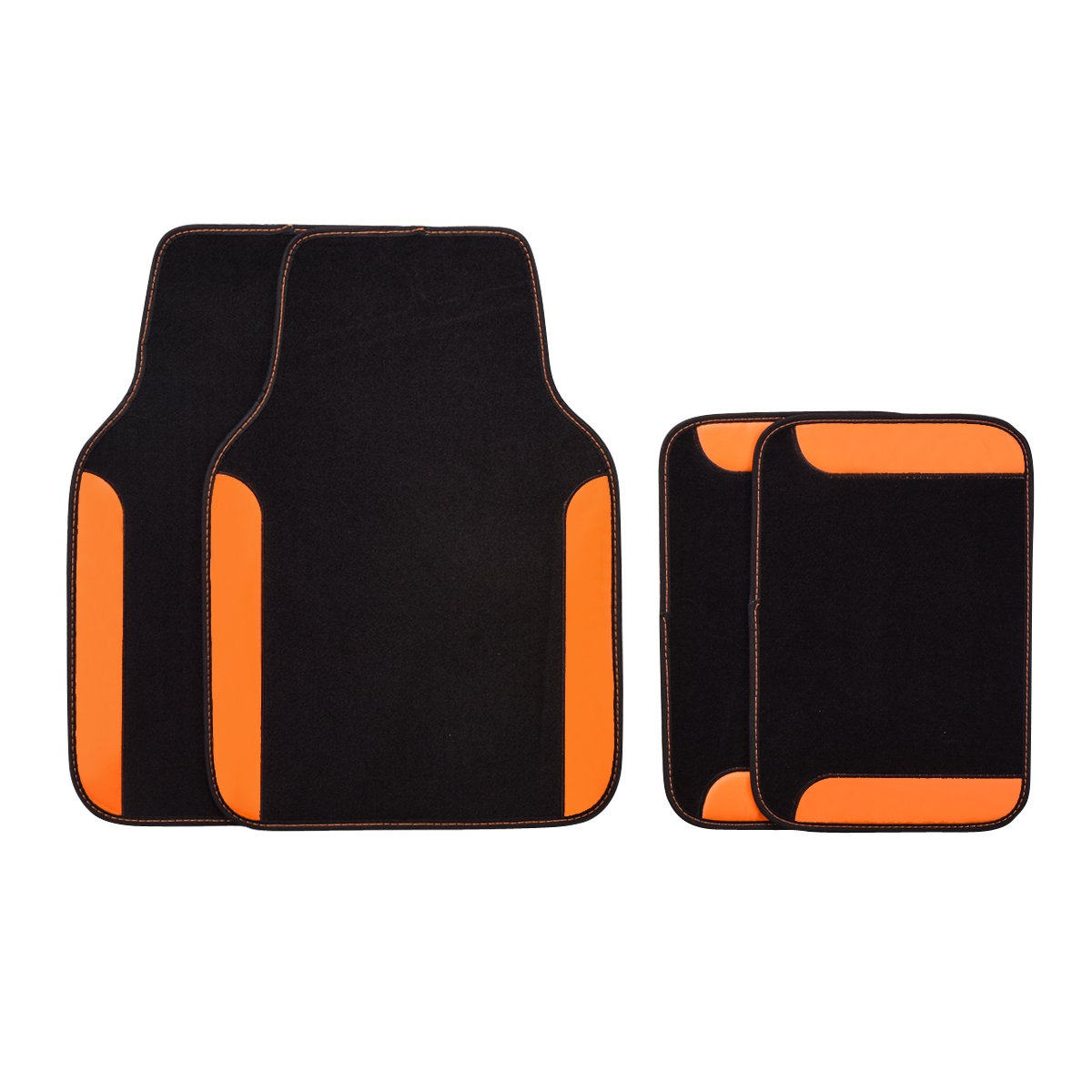 NEW ARRIVAL- CAR PASS RAINBOW WATERPROOF UNIVERSAL CAR FLOOR MATS (black and light orange color) LJ