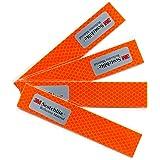 Salzmann Diamond Grade Reflective Stickers | Waterproof and Weatherproof Reflective Stickers for Cars, Motorcycles, Helmets etc. | Made with 3M Scotchlite | 4 Stickers Per Pack