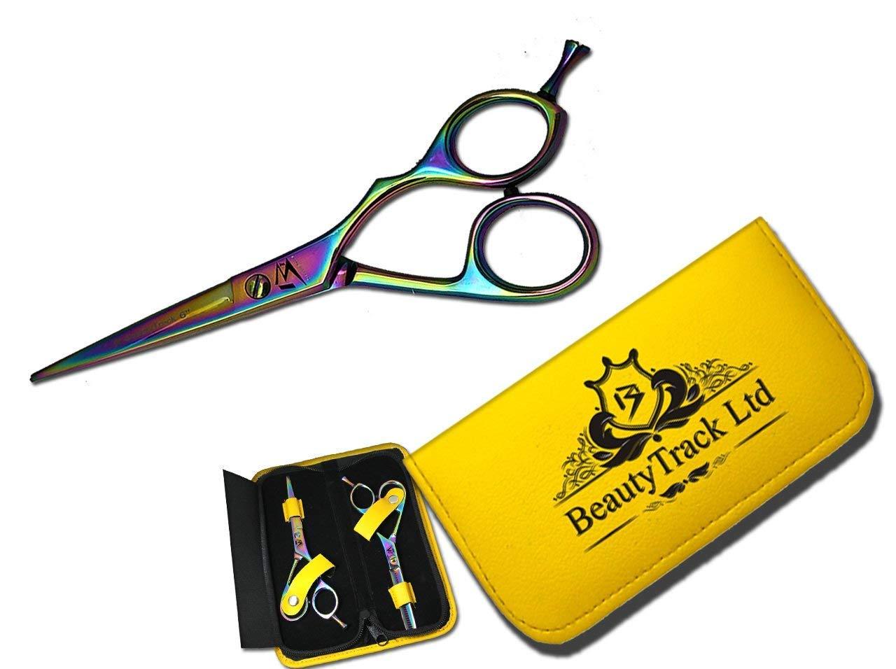 Profesional tijeras de peluquería Peluquería corte de pelo tijeras de peluquería adelgazamiento 5.5: Amazon.es: Belleza