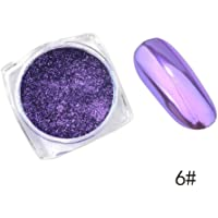 Niome 0.3g/box Nail Glitter Powder Magic Mirror Effect Holographic Nail Art Chrome Pigment Manicure Decoration DIY 6#