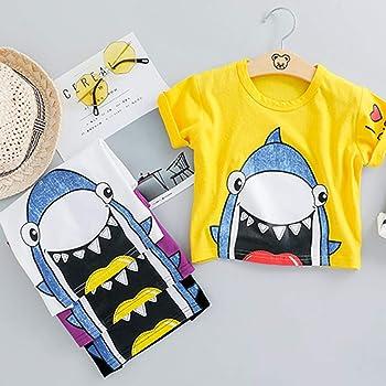 Kleinkind Baby Boy Kleidung Shark Print Kurzarm T-Shirt und Shorts Baumwolle 2PC Sommer Outfit Set