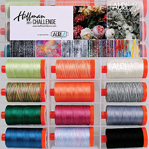 Hoffman Challenge 2017 Aurifil Thread Kit 12 Large Spools 50 Weight HF5017HC12 by Aurifil