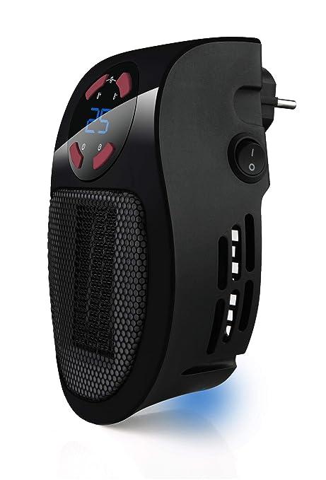 Taurus Tropicano Plug Heater Mini cerámico portátil, Ligero y Compacto, Calefactor sin Cable,