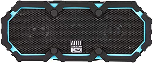 Altec Lansing IMW577-AB Lifejacket 2 Bluetooth Speaker, IP67 Waterproof, Shockproof, Snowproof, Everything-Proof Rating, 30-Foot Range, 30 Hours Of Battery Life, Aqua Blue