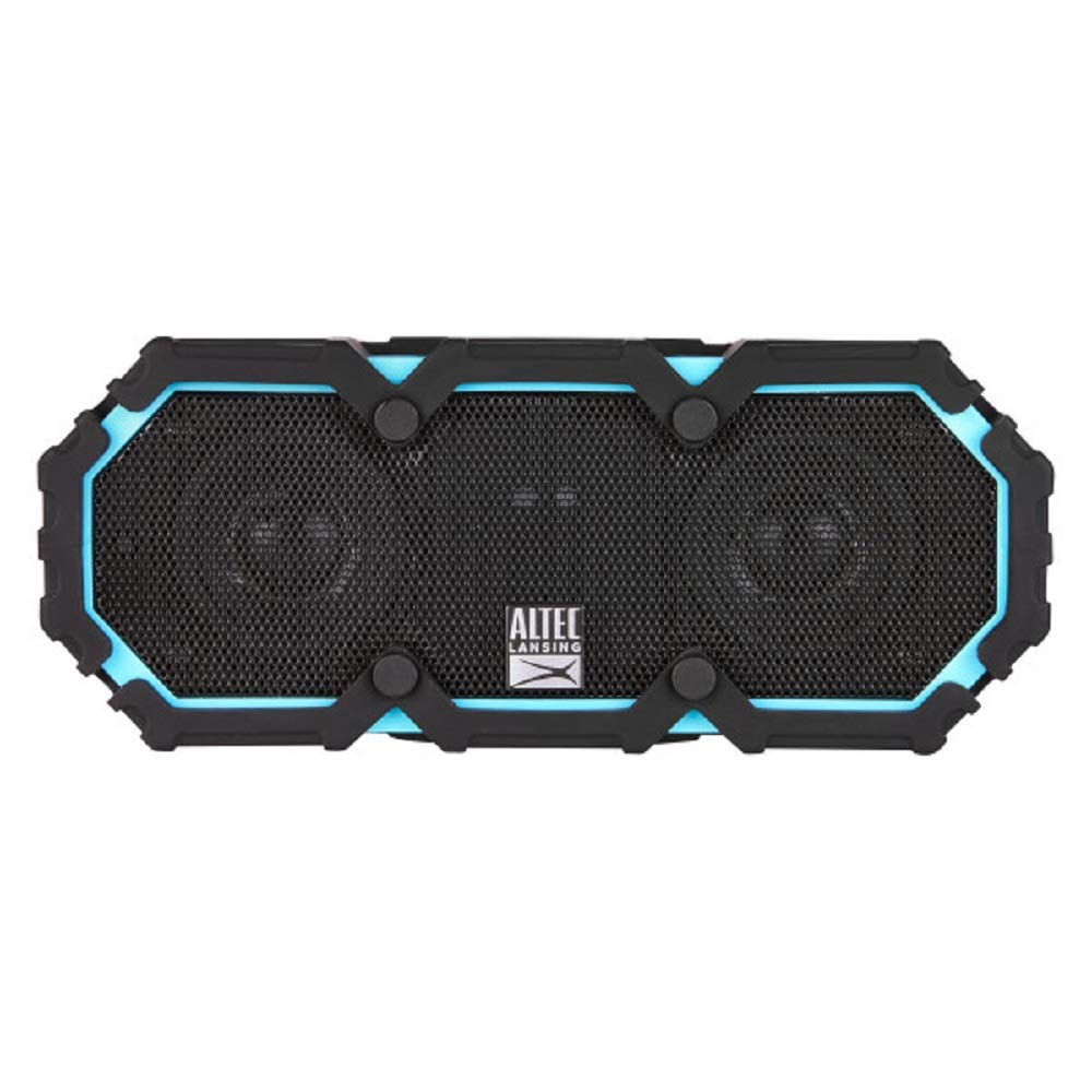 Altec Lansing IMW577-AB Lifejacket 2 Bluetooth Speaker, IP67 Waterproof, Shockproof, Snowproof, Everything-Proof Rating, 30-Foot Range, 16 Hours Of Battery Life, Aqua Blue