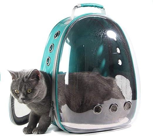 IFBIQ Jaula de Perro Mascota Mochila Bolsa de Gato del Espacio Transparente portátil Cápsula Mochila Porta Mochilas Cat (Color, Size : 29 * 27