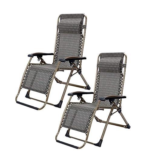 Juego de 2 sillones Patio Zero Gravity para Personas Pesadas ...