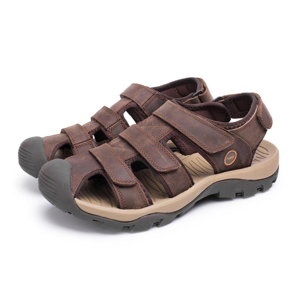 LYZGF Sandalias De Baotou De Gran Tamaño Ocasionales De La Juventud De Los Hombres Zapatillas De Playa De La Moda 39 EU|Darkbrown